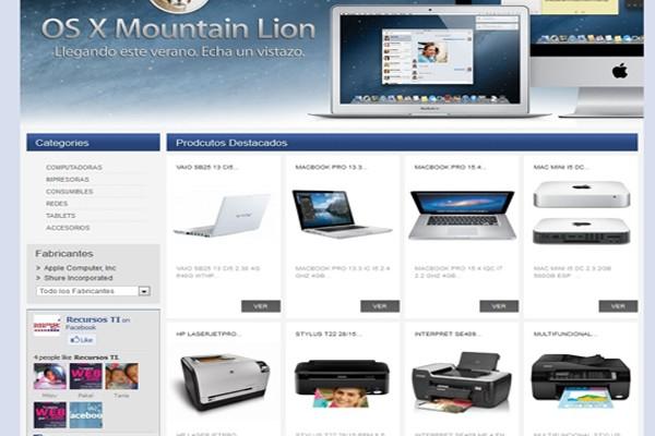 Diseño de catalogo virtual de Recursos Ti