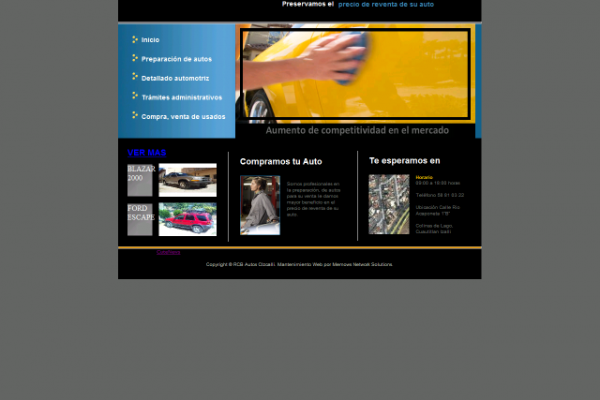 diseño web ryb autos