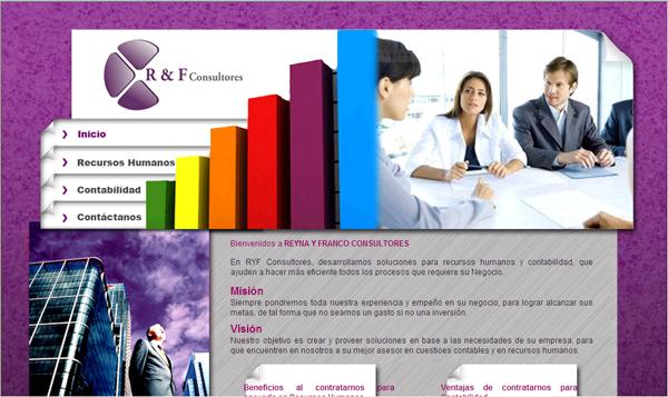 Diseño de la página ryf consultores