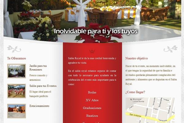 Diseño web del Salón de eventos Royal