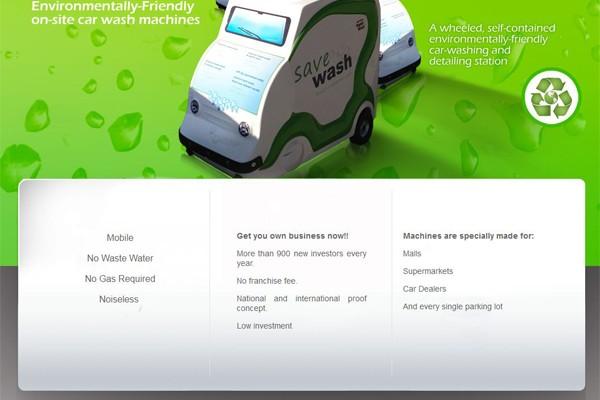 Diseño de página para Save Wash