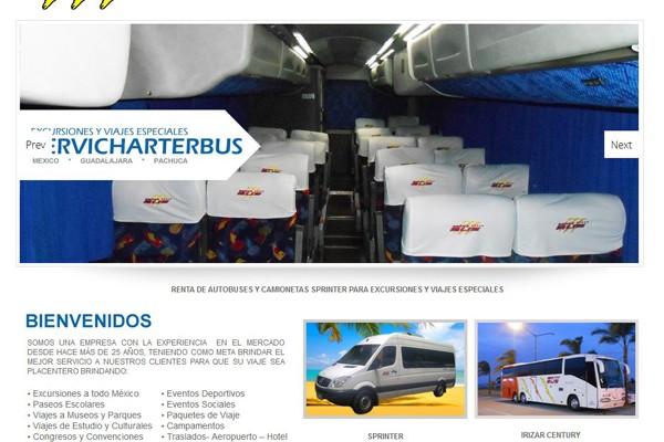 Diseño de pagina web de Servi Bus