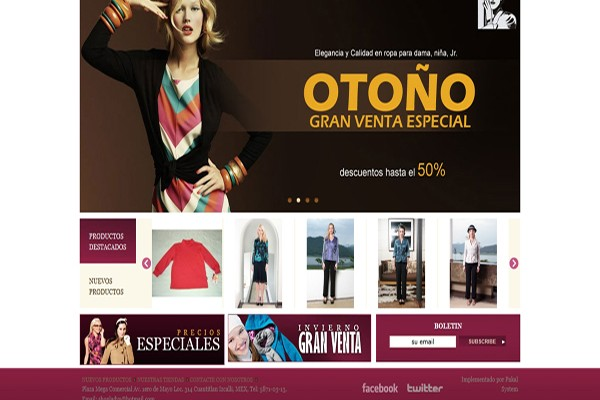 Diseño web shopladys