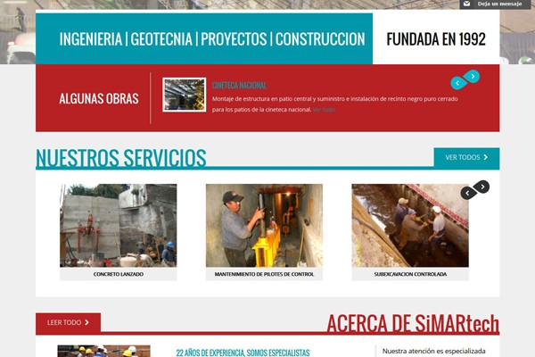 Diseño web de Simartech