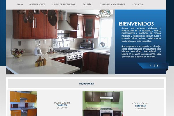 Diseño web y catalogo virtual de Cocinas Integrales Start