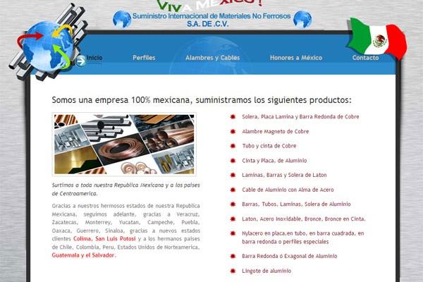 Diseño de pagina web sumimet