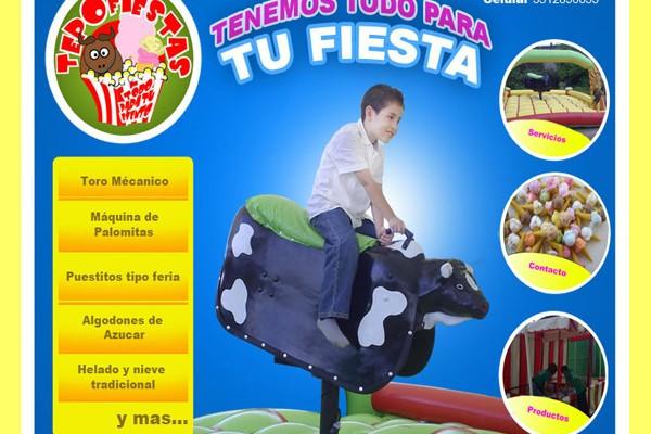 Diseño de pagina web tepo fiestas