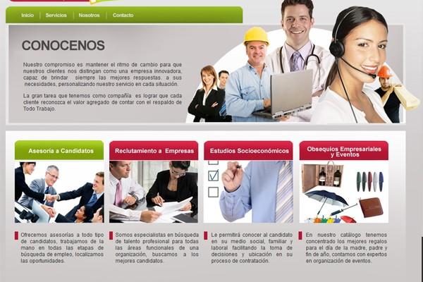 Diseño pagina web todo trabajo