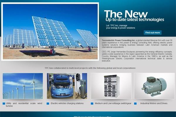 Diseño de pagina web de TPC