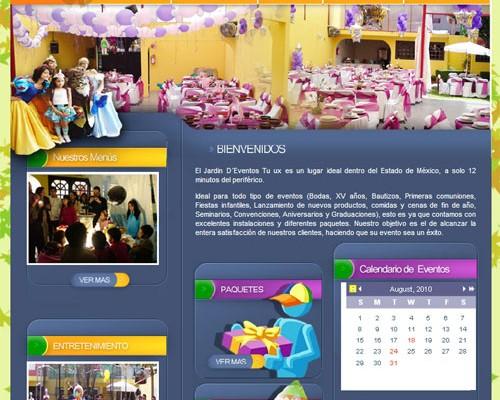 Diseño de pagina web tuux