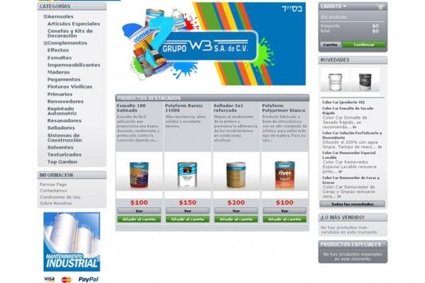 Diseño web y tienda virtual grupo wb