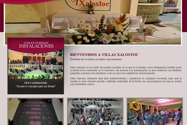 Diseño web de Salón de eventos Villas Xalostoc