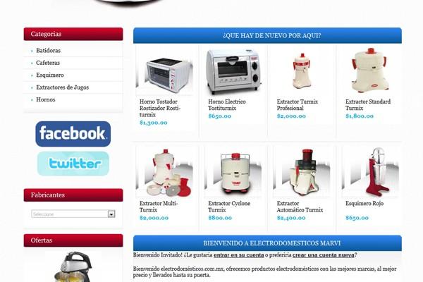 Tienda virtual de Web Marvi