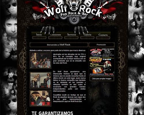 Diseño web wolfrock