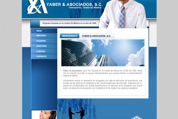 Diseño web yaber y asociados