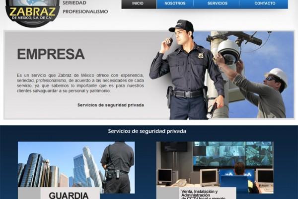 Diseño de página web Zabraz