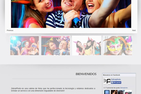 Diseño web de Zebraphoto