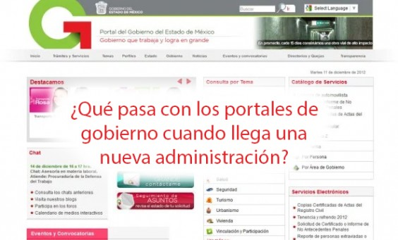 Qué pasa con los portales de gobierno cuando llega una nueva administración